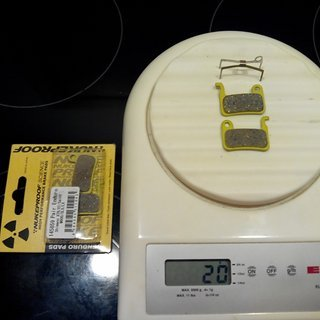 Gewicht Nukeproof Bremsbelag Science Enduro Shimano XTR/XT/SAINT