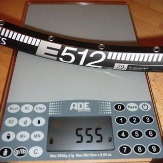 """Gewicht DT Swiss Felge E 512 29"""" 32 Loch"""