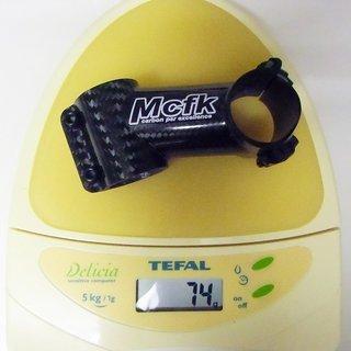 Gewicht Mcfk Vorbau Carbon 31.8mm, 70mm, 17°