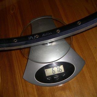 "Gewicht Alesa Felge 9021 28"" / 622x21 / 36Loch"