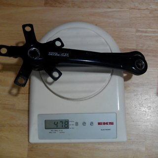 Gewicht Shimano Kurbel Deore LX FC-M563 175mm, 68/73mm, 4-kant