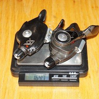 Gewicht SRAM Schalthebel XX Trigger 2x10-fach