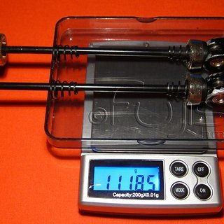 Gewicht Coda Schnellspanner Schnellspanner 100mm, 135mm