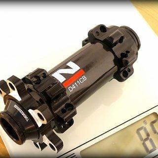 Gewicht Novatec Nabe D411CB 100mm/15, 28-Loch