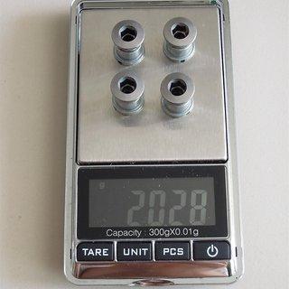Gewicht Shimano Kettenblattschrauben Deore FC-M442/443 M8x10mm, 4x