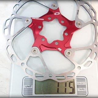 Gewicht Progress Bremsscheibe Bremscheibe 160mm