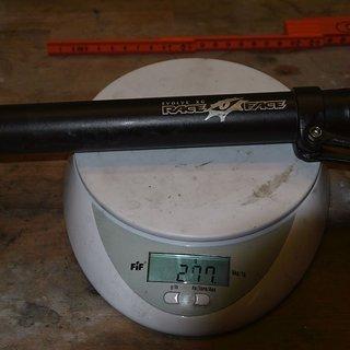 Gewicht Race Face Sattelstütze Evolve XC 31,6 x 350