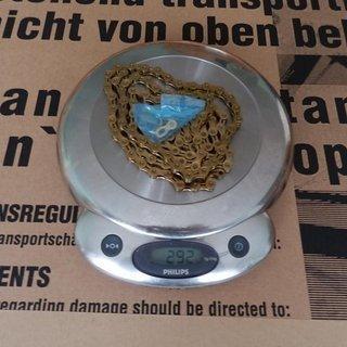 Gewicht KMC Chain Kette X 9 L Gold 116 Glieder