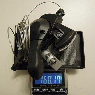 Gewicht Shimano Schalthebel Alivio SL-MC40-7R 7-fach