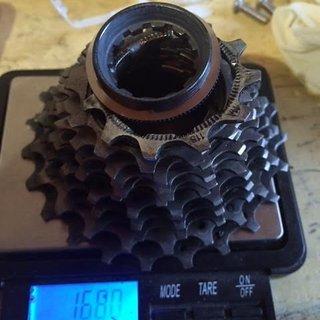 Gewicht Shimano Kassette Dura Ace CS-9000 11-fach, 11-23Z