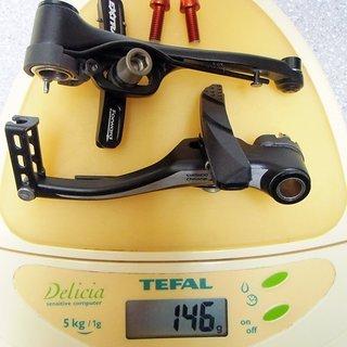 Gewicht Shimano Felgenbremse LX BR-T660 (tuned) 107mm