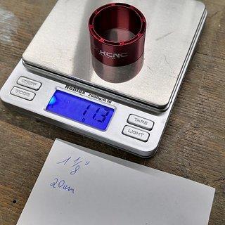 Gewicht KCNC Spacer Hollow Spacer 1⅛'', 20mm