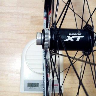 "Gewicht Shimano Systemlaufräder XT HB-M788 - WTB Frequency Team i23 - DT Revo/Comp 29"", VR, 100mm/15mm"