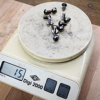 Gewicht No-Name Schrauben, Muttern Bremsscheibenschrauben Titan 12 Stk, M5x10