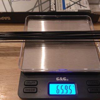 Gewicht Sapim Speiche Laser 283mm, 14 Stk.