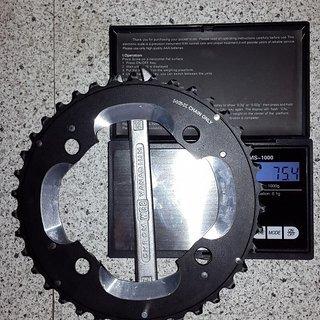 Gewicht Shimano Kettenblatt XT FC-M785 104mm, 38Z