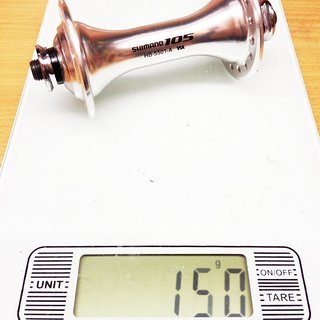 Gewicht Shimano Nabe 105 HB-5501 100mm/QR, 32-Loch