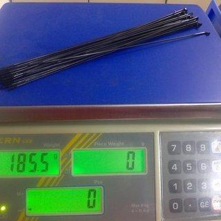 Gewicht Sapim Speiche Force 256mm, 32 Stück