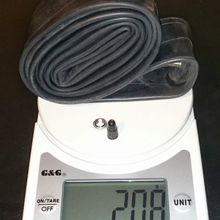Gewicht Schwalbe Schlauch SV19 62-584 / 27,5x2,35