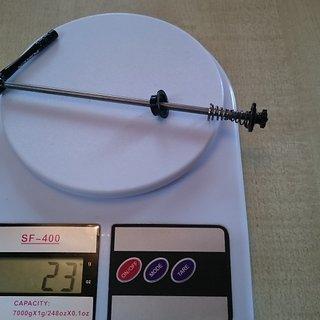 Gewicht Token Schnellspanner Token Titan-Alu Hinterrad