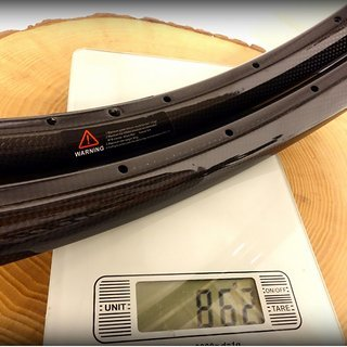 "Gewicht No-Name Felge 29er 30mm wide MTB carbon rim 29"", 622x25, 28 Loch"