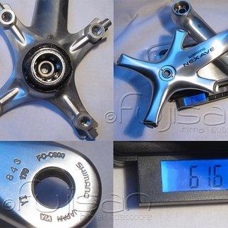 Gewicht Shimano Kurbel Nexave FC-C900 170mm, , 68/73mm, Octalink
