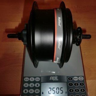 Gewicht Fallbrook Technologies Nabenschaltungen Nuvinci N360 135x10 mm, 36°