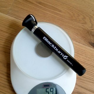Gewicht Blackburn Werkzeug Airstik SL