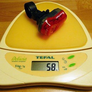 Gewicht XLC Beleuchtung Capro Ultra X CL-R06 Rücklicht