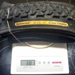 "Gewicht Continental Reifen Cross Country 26x1.5"", 40-559"