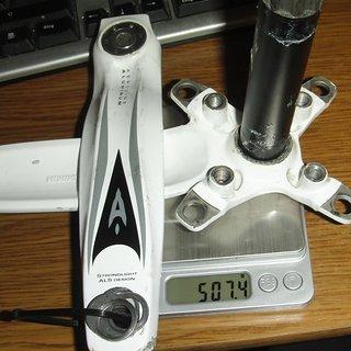 Gewicht Aerozine Kurbel X12-SL 170/175mm, 68/73mm, HT2