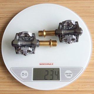 Gewicht Exustar Pedale (Klick) E-PM215Ti