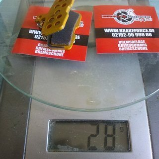 Gewicht BrakeForce Bremsbelag Bremsbelag (Code)