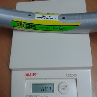 "Gewicht Velocity Felge P35 29"", 32 L"