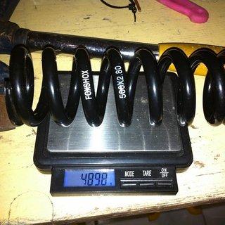 Gewicht Fox Racing Shox Feder DHX Stahlfeder  500 x 2,80