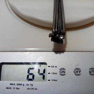 Gewicht Ritchey Speiche Logic 262mm, 16 Stück