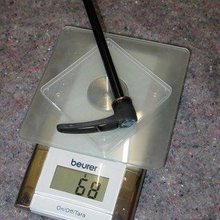 Gewicht DT Swiss Schnellspanner RWS Thru Bolt  10/135
