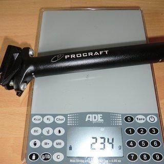 Gewicht Procraft Sattelstütze Superlight II 27,2 x 350mm