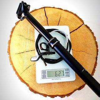 Gewicht TranzX Sattelstütze höhenverstellbar YSP12L intern 30,9 x 420 mm | 125 mm Hub