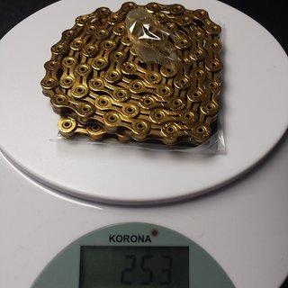 Gewicht KMC Chain Kette X 10 SL Gold 114 Glieder, 10-fach