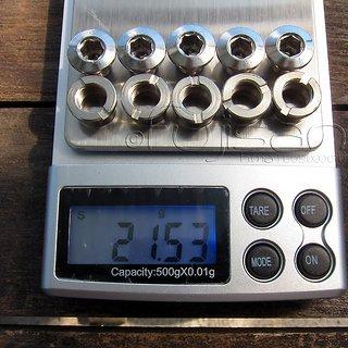 Gewicht No-Name Kettenblattschrauben Singlespeed (CrMo) M5x10mm, 5x
