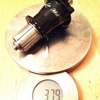 Gewicht DT Swiss Nabe Hügi FR 135mm/QR, 32-Loch