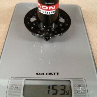 Gewicht Novatec Nabe X-Light D811SB-15 100mm/15, 32-Loch