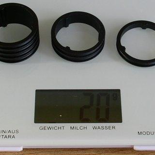 Gewicht Syntace Spacer H.A.T. Spacer 1⅛'', 5/10/20mm