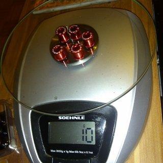Gewicht Carbocage Kettenblattschrauben Kettenblattschrauben M8x8mm, 5x