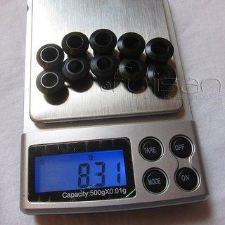 Gewicht SRAM Kettenblattschrauben Force M8x7mm, 5x