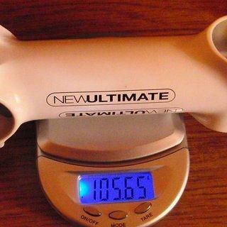 Gewicht New Ultimate Vorbau Ti Stem White Edition 31.8mm, 110mm, 6°
