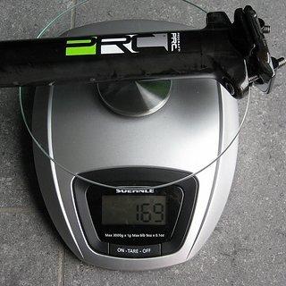 Gewicht Procraft Sattelstütze PRC SP2 31,6 x 350mm