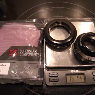 Gewicht Superstar Components Steuersatz Angle Headset T7-2 EC44/28.6 - ZS56/40