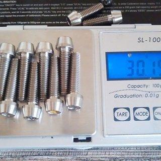 Gewicht Tuning Pedals Schrauben, Muttern konische Inbusschraube M6x25, Ti